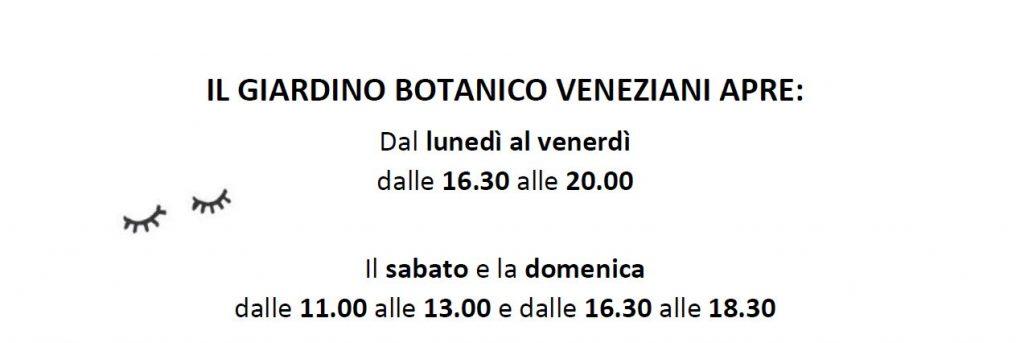 Aperture giardino botanico veneziani